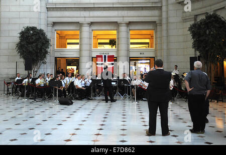 Washington, DC, USA. 12th Sep, 2014. 20140912: The Royal Norwegian Navy Band performs a free concert inside Union - Stock Photo