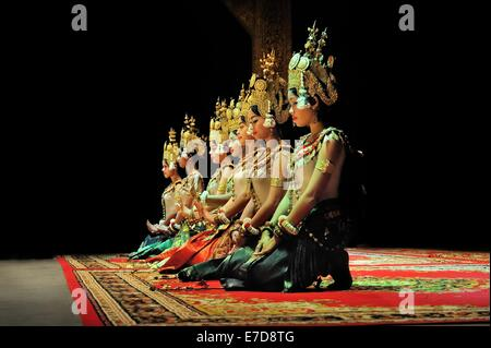 Cambodian Dancers on Stage - Stock Photo