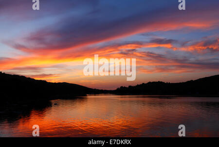 Cloudy sunset at Dugi otok in Croatia - Stock Photo