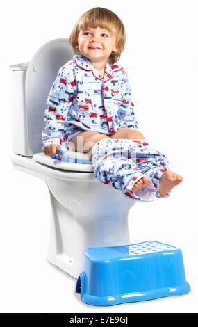 Child Sitting On Toilet Potty Stock Photo Royalty Free