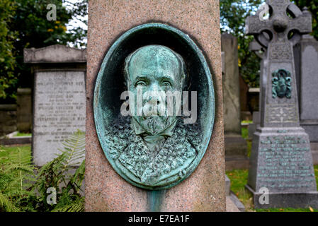 Detail from the Grave of John Anderson (4 October 1833 – 15 August 1900) who was a Scottish anatomist and zoologist. - Stock Photo