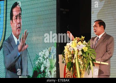 Bangkok, Thailand. 15th Sep, 2014. Thailand's Prime Minister Prayuth Chan-ocha presides over the closing ceremony - Stock Photo