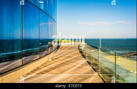 Modern balcony overlooking ocean stock photo royalty free for Balcony overlooking city