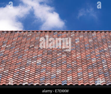 roof tile against blue sky on sunny day Stock Photo ...