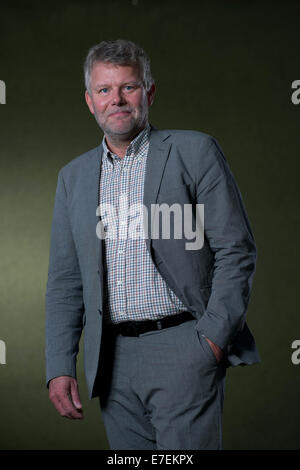 Jan Arnald is a Swedish novelist and literary critic appears at the Edinburgh Book Festival. Also writes as Arne - Stock Photo