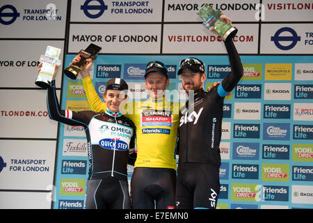 London, UK. 14th Sep, 2014. Dylan Van Baarle (Garmin Sharp) overall winner of the Tour of Britain in London. Michal - Stock Photo