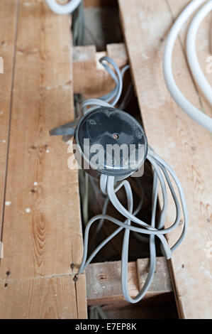 home electrical wiring junction box 70 s style wiring in a house rh alamy com Simple Electrical Wiring Diagrams Electrical Wiring Diagrams For Dummies