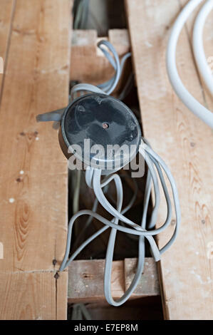 close up of an old electrical junction box stock photo 71548400 alamy rh alamy com Light Switch Wiring Diagram home wiring junction box