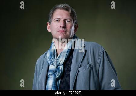 Scottish novelist Alan Warner appears at the Edinburgh International Book Festival. - Stock Photo