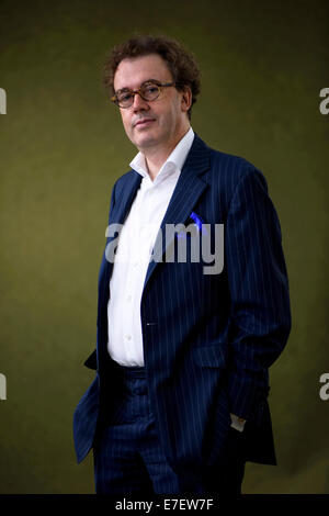 Composer and festival director Jonathan Mills appears at the Edinburgh International Book Festival. - Stock Photo