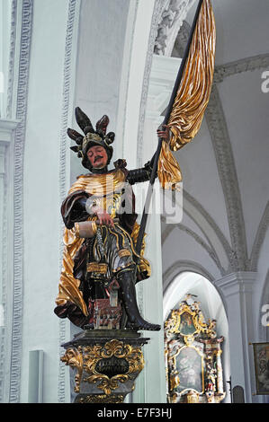St. Florian, Parish Church of the Assumption of the Blessed Virgin Mary, inaugurated in 1466, Landsberg am Lech, - Stock Photo