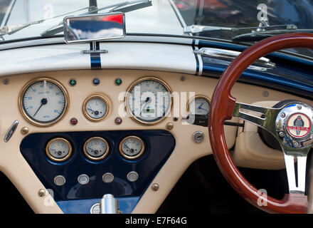 1966 Ford Shelby Cobra 427 dashboard. - Stock Photo