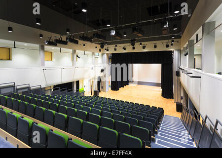 Auditorium at Park Community School with retractable motorised seating. - Stock Photo