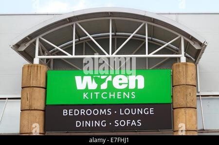 Wren kitchens store sign logo name bedrooms bathrooms ...