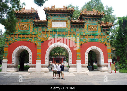 Western students, Confucius Temple Beijing, China 2014 - Stock Photo
