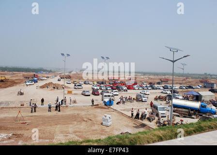 Construction on the edge of Pingyao, Shanxi province, China 2014 - Stock Photo
