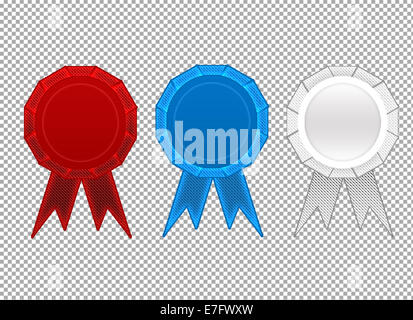 First, second, third place ribbons - Stock Photo