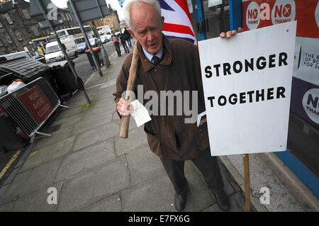 Sept. 16, 2014 - London, England, United KIngdom - The ''Better Together'' campaign is busy at their Headquarters. - Stock Photo