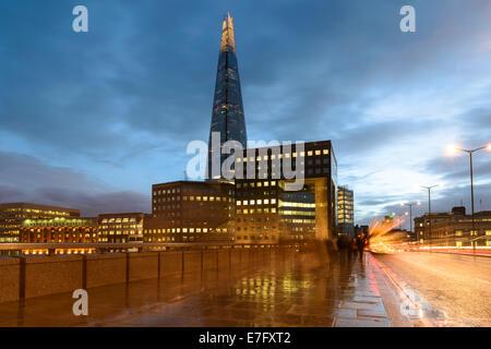 London Bridge at Dusk, England, UK - Stock Photo