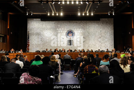 Washington DC, USA. 16th Sep, 2014. A joint hearing convened by the Senate Health, Education, Labor and Pensions - Stock Photo