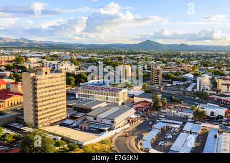 Overview of the city, Windhoek, Namibia - Stock Photo