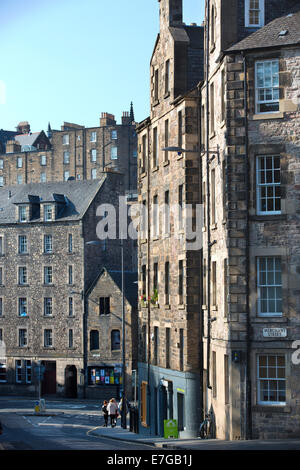 Candlemaker Row, the Old Town, Edinburgh, Scotland, United Kingdom - Stock Photo