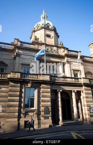Bank of Scotland, head office, The Mound, Edinburgh, Scotland - Stock Photo