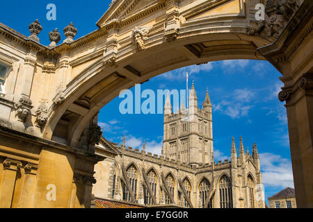 Bath Cathedral, Somerset, England - Stock Photo
