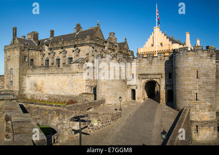 Entrance to Stirling Castle - birthplace of Mary Queen of Scots, Stirling, Scotland - Stock Photo