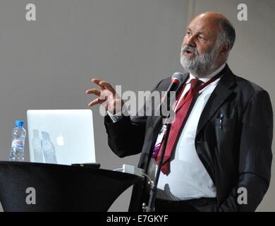 ITAR-TASS: ST. PETERSBURG, RUSSIA. SEPTEMBER 17, 2014. Riccardo Valentini, professor of Forest Ecology at the University - Stock Photo