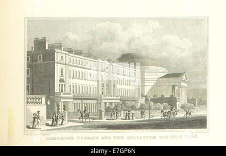 Cambridge Terrace and the Coliseum, Regent's Park - Shepherd, Metropolitan Improvements (1828), p243 - Stock Photo