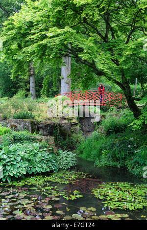 The Japanese Garden, Batsford Arboretum, Moreton-in-Marsh, Gloucestershire - Stock Photo
