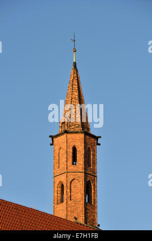 St Vincent and St James church tower, Wroclaw, Poland - Stock Photo
