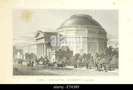 The Coliseum, Regent's Park - Shepherd, Metropolitan Improvements (1828), p191 - Stock Photo