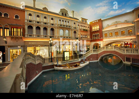 Grand Canal Shoppes, inside The Venetian Resort Hotel Casino, Las Vegas, Nevada, USA - Stock Photo