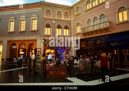 Cafe, Grand Canal Shoppes, The Venetian Resort Hotel Casino, Las Vegas, Nevada, USA - Stock Photo