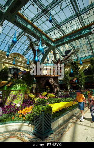 Flowers in Conservatory & Botanical Gardens, Bellagio, Las Vegas, Nevada, USA - Stock Photo