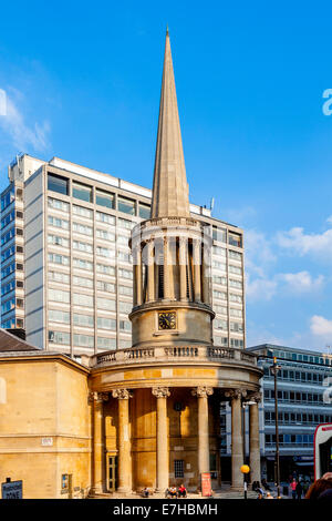 All Souls Church, Langham Place, London, England - Stock Photo