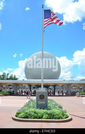 Epcot Center at Walt Disney World, Orlando, Florida, USA - Stock Photo