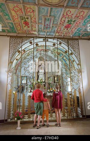inside the church 'Sanctuary of the Virgin Mary' near Krasno, Velebit Mountains, Croatia - Stock Photo