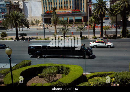 Giant limousine on Las Vegas Boulevard (The Strip), Las Vegas, Nevada, USA - Stock Photo