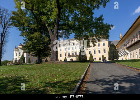Baroque castle, Lysa Nad Labem, Czech Republic - Stock Photo