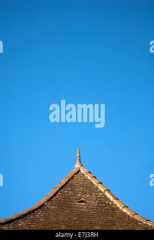 Typical traditional roof, Lot Valley, France - Stock Photo
