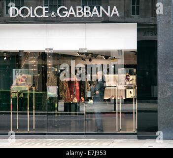 Dolce & Gabbana Store on Sloane Street in Knightsbridge - London UK - Stock Photo