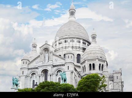 Sacre Coeur Basilica in Paris - Stock Photo