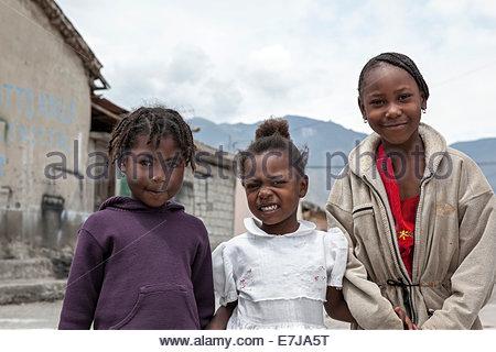 Village children, Salinas, Ecuador - Stock Photo