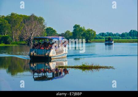Excursion boat, Kakadu National Park, Northern Territory, Australia - Stock Photo