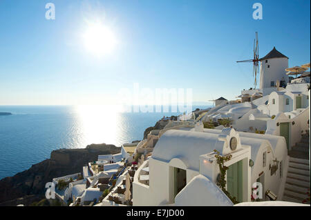 Greece, Europe, Cyclades, island, isle, islands, Greek, outside, Mediterranean Sea, day, nobody, Santorin, Santorini, - Stock Photo
