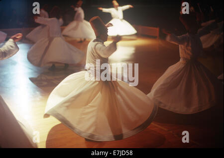 Whirling Dervishes, Konya, Turkey - Stock Photo