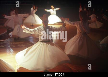 Whirling Dervishes, Konya, Turkey - Stock Photo
